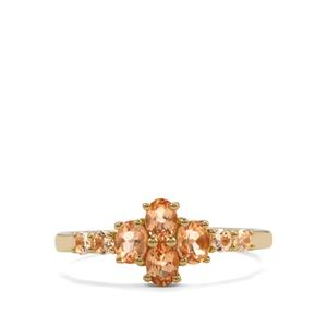 0.95ct Ouro Preto Imperial Topaz 10K Gold Ring