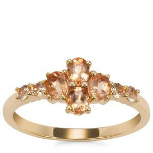 Ouro Preto Imperial Topaz Ring in 10K Gold 0.95ct