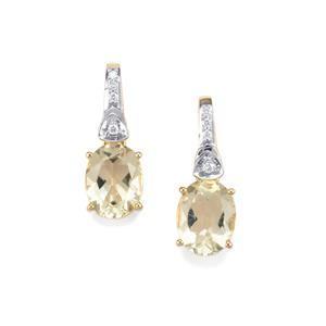 Serenite Earrings with Diamond in 18K Gold 3.37cts