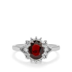 Burmese Multi-Color Spinel Ring with White Zircon in Sterling Silver 1.91cts