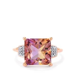 Anahi Ametrine Ring with Diamond in 10k Rose Gold 4.61cts