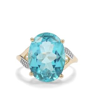 Batalha Topaz Ring with White Zircon in 9K Gold 10.61cts