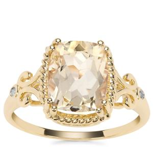 Serenite Classical Design Ring with Diamond in 9K Gold 2.88cts