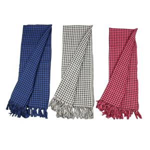 Houndstooth Print luxe Cotton Scarf (Choice of 3 Colors)