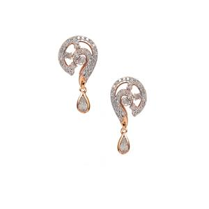 Diamond Earrings in Gold Plated Sterling Silver 0.52ct