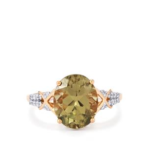 Csarite® Ring with Diamond in 18k Rose Gold 4.66cts