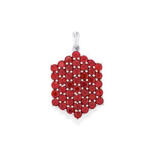Madagascan Ruby Pendant  in Sterling Silver 9cts (F)