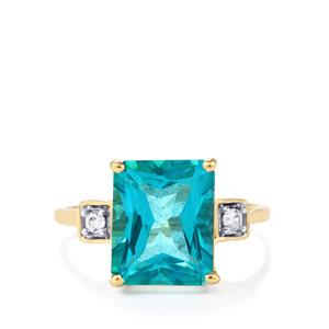 Batalha Topaz Ring with White Zircon in 10k Gold 5.30cts