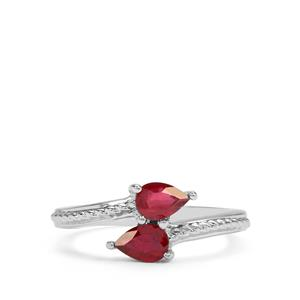1.23ct Malagasy Ruby Sterling Silver Ring (F)