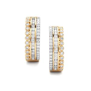 Diamond Earrings in 18K Gold & Platinum 950 1ct