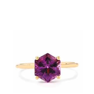 2.44ct Moroccan Amethyst 10K Gold Ring