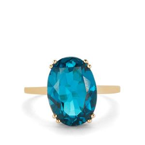 7.50ct Marambaia London Blue Topaz 9K Gold Ring