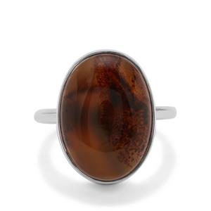 Montana Agate Ring in Sterling Silver 9.97cts