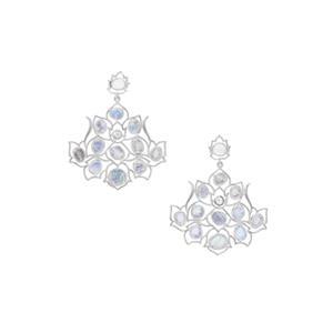 11.30ct Rainbow Moonstone Sterling Silver Earrings