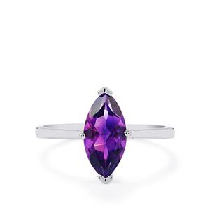1.72ct Moroccan Amethyst 9K White Gold Ring