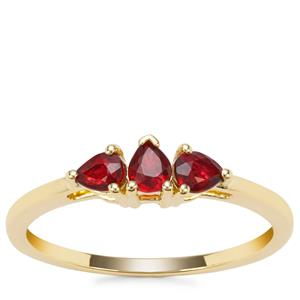 Songea Ruby Ring in 9K Gold 0.47ct