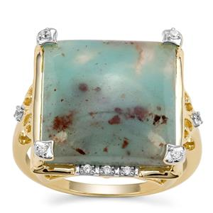 Aquaprase™ Ring with White Zircon in 9K Gold 8.88cts