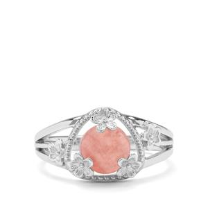 1.90ct Rhodochrosite Sterling Silver Ring
