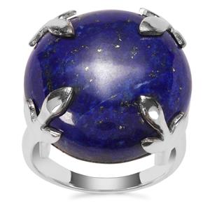 Sar-i-Sang Lapis Lazuli Ring in Sterling Silver 24cts