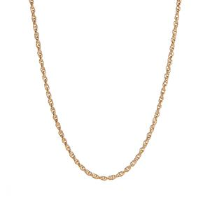 """24"""" Gold Plated Sterling Silver Classico Prince of Wales Chain 2.43g"""