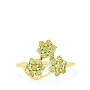 Ambanja Demantoid Garnet Ring in 9K Gold 0.77ct