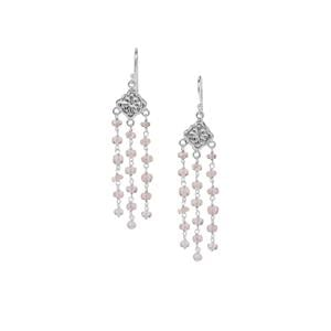 18ct Alto Ligonha Morganite Sterling Silver Bead Earrings