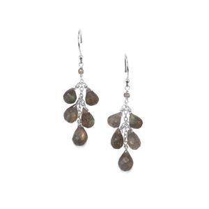 Labradorite Bead Earrings in Sterling Silver 17.40cts