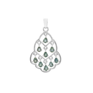 Natural Umba Sapphire Pendant in Sterling Silver 1.78cts