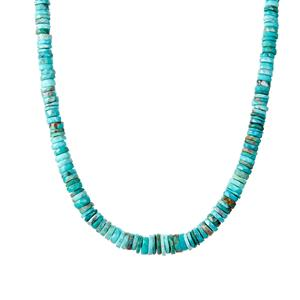 Cochise Turquoise Necklace in Sterling Silver 112.70cts