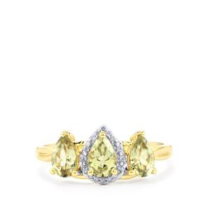 Csarite® Ring with Diamond in 10k Gold 1.39cts