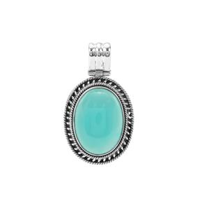 Aqua Chalcedony Pendant in Sterling Silver 20cts