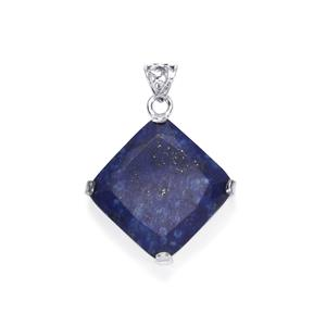 Sar-i-Sang Lapis Lazuli Pendant in Sterling Silver 40cts