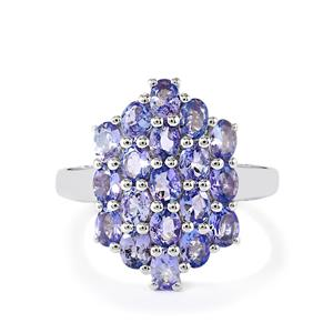3ct Tanzanite Sterling Silver Ring