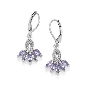 Tanzanite Earrings in Sterling Silver 1.25cts