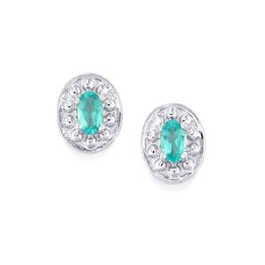 Apatite Earrings in Sterling Silver 0.51ct