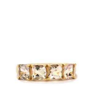 1.94ct Alto Ligonha Morganite 9K Gold Ring