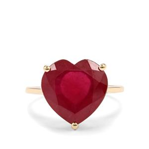 Malagasy Ruby Ring in 10K Gold 9.60cts (F)