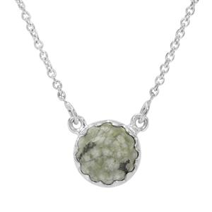 Rainforest Jasper Necklace in Sterling Silver 3.50cts