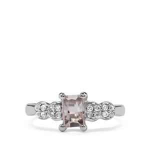 Kolum Kunzite Ring with White Topaz in Sterling Silver 1cts
