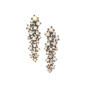 1ct Multi-Colour Diamond Sterling Silver Earrings