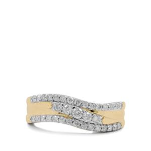 1/2ct Canadian Diamond 9K Gold Tomas Rae Ring