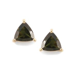 0.81ct Chrome Tourmaline 10K Gold Earrings
