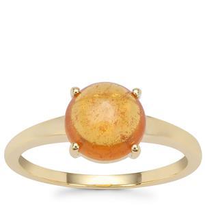 Mandarin Garnet Ring in 9K Gold 2.81cts