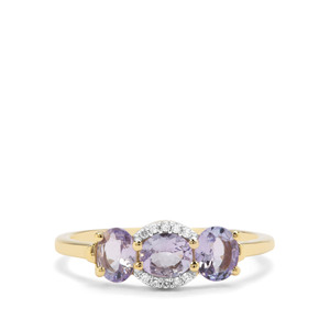 Tanzanite & Diamond 9K Gold Ring ATGW 1cts