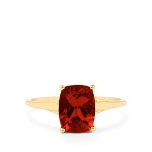 1.59ct Tarocco Red Andesine 9K Gold Ring