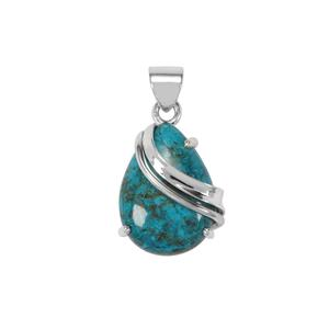 Shattuckite Pendant in Sterling Silver 15cts