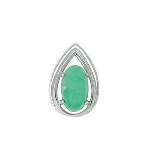 Szklary Chrysoprase Pendant in Sterling Silver 2.90cts