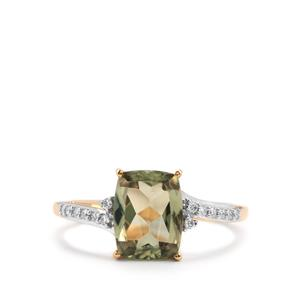 Csarite® & Diamond 18K Gold Ring MTGW 2.38cts