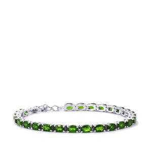 Chrome Diopside Bracelet  in Sterling Silver 10.22cts