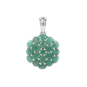 Carnaiba Brazilian Emerald Pendant in Sterling Silver 3.05cts